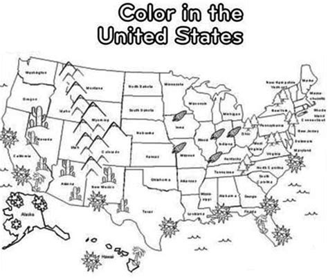 printable usa map for kindergarten us map coloring page new map of usa coloring page 57 for
