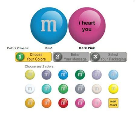 m and m colors save 10 on customized m m s with promo code