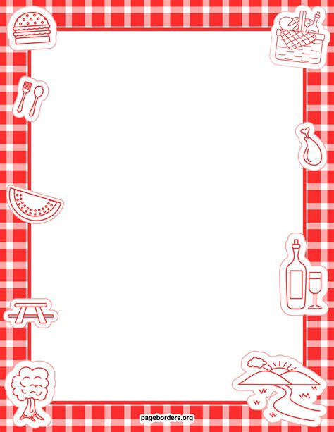Table Borders by Clipart Table Cloth Border Clipground
