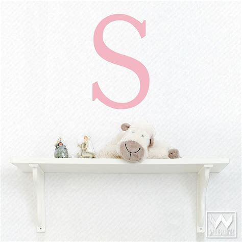 letter wall decals for rooms stick on monogram letter saying quote initial name vinyl wall decal wallternatives