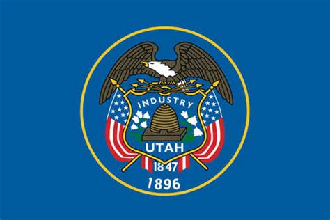 stock illustration utah state flag