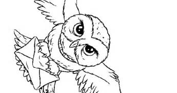 free coloring pages harry potter owl