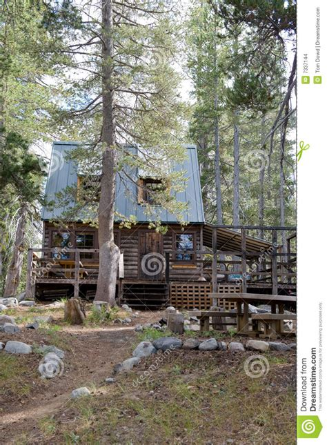 Wrights Lake Cabin Rental by Timber Cabin In Forest Stock Images Image 7337144