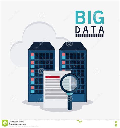 design criteria in big data big data center base and web hosting icon set stock vector