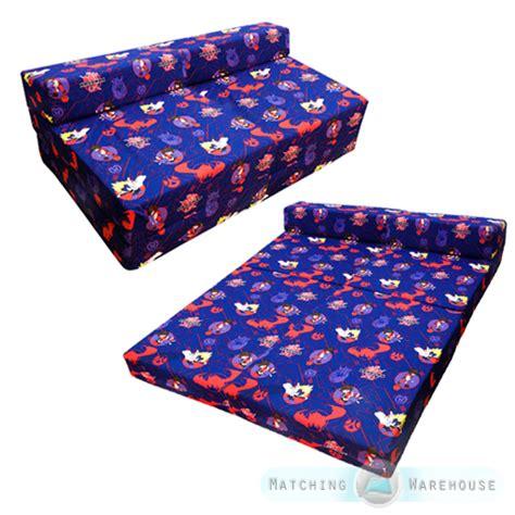 foldout bed children s kids foldout double mattress sofa bed futon
