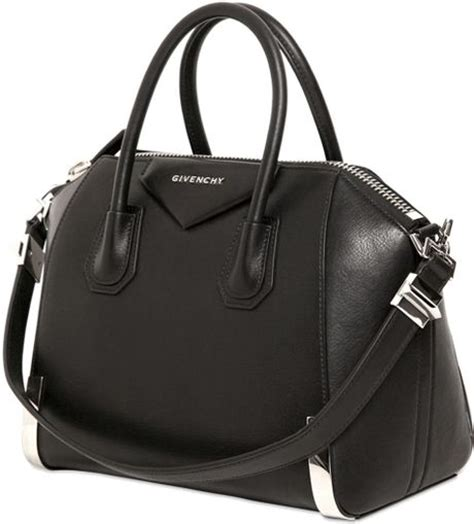 givenchy small antigona metal corners leather bag in black