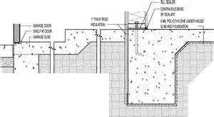 monolithic to garage slab transition w 1 in rigid foam garage slab design on concrete monolithic concrete slab