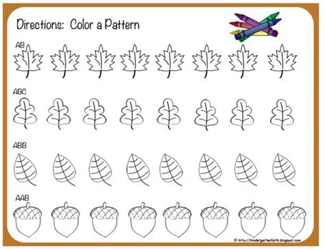 Patterns In Nature Lesson Plans Kindergarten | kindergarten faith fall patterns too cute all things