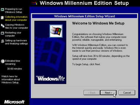 Windows Me guidebook gt screenshots gt welcome screen