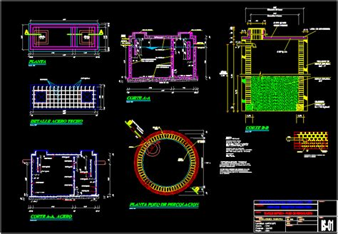 septic tank dwg detail  autocad designs cad