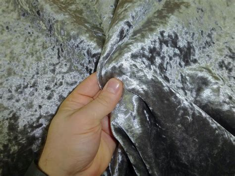 Upholstery Repairs Melbourne Grey Crushed Velvet Curtain Fabric Window Curtains Amp Drapes