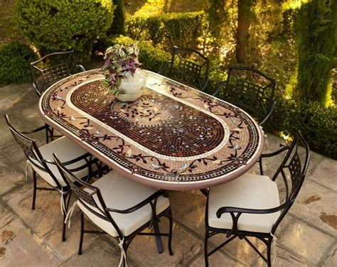 ceramic tile top patio table ceramic tile patio table outdoor tile top patio dining