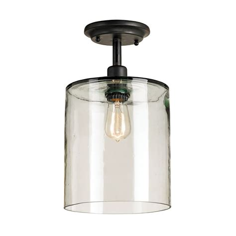 Glass Shade For Ceiling Light Vintage Style Ceiling Light With Blown Recycled Glass Shade 9892 Destination Lighting
