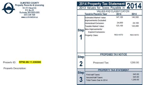 Are Property Taxes Record Bill Pay Olmsted County Mn