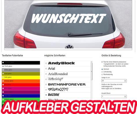 Sticker Für Auto Selber Gestalten by Aufkleber Drucken Klebebuchstaben Autoaufkleber Selber