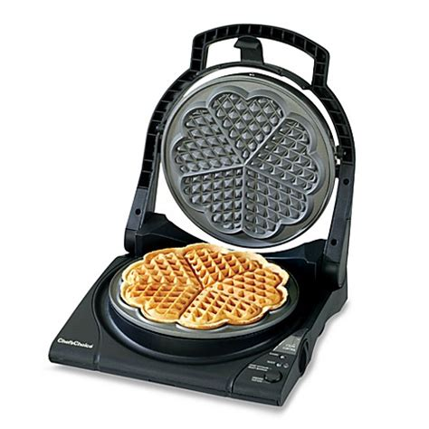waffle maker bed bath and beyond chef schoice 174 wafflepro five of hearts electric waffle