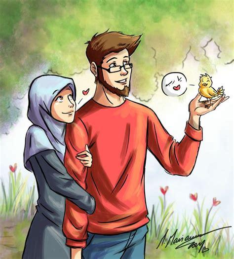 cartoon wallpaper with shayari 59 best hijab animasi images on pinterest muslim couples