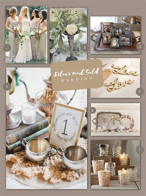 vintage silver and gold wedding inspiration theme vintage silver wedding decorations gold