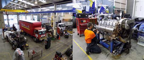 workshop layout for heavy equipment truck workshop