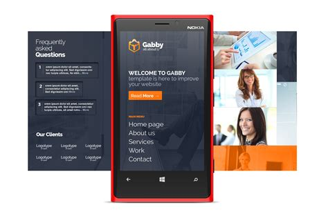 3 mobile homepage gabby psd website desktop and mobile version by doogi