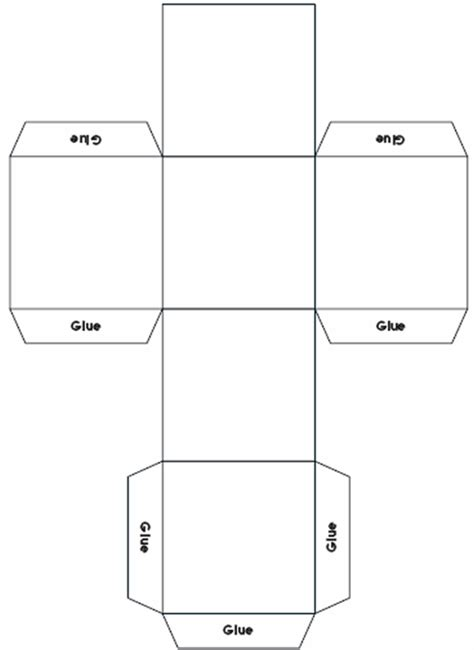 printable dice net esl kids dice template