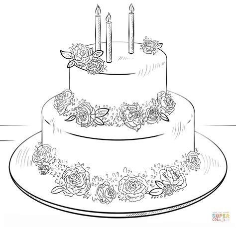 large birthday cake coloring page big birthday cake coloring page free printable coloring