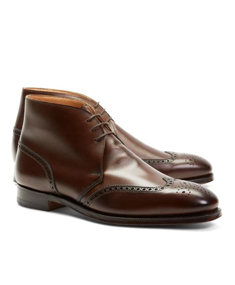 brothers peal co 174 leather wingtip boots in brown
