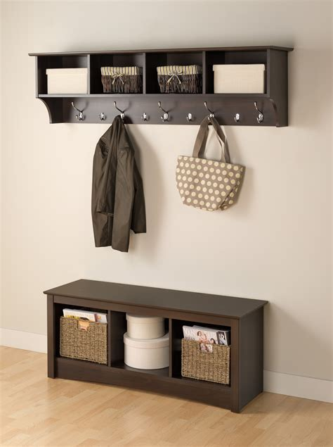 entryway shelves entryway coat rack with shelves tradingbasis