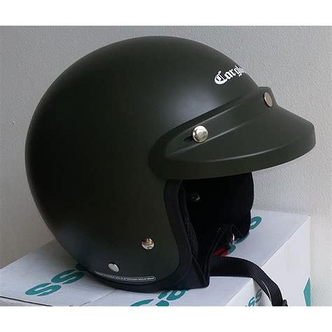 Helm Retro Cargloss Green Doff helm motor cargloss termurah cf retro green doff elevenia