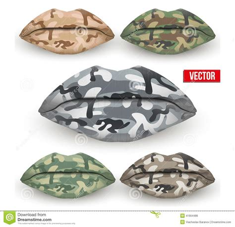 camouflage clipart clipart collection camouflage set of beautiful lips with camo texture vector stock
