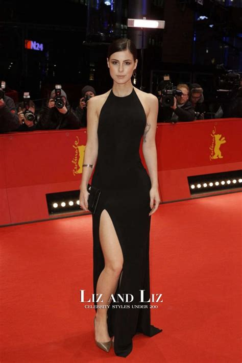 Dress Lena Ij 1 lena meyer landrut black halter backless dress berlinale