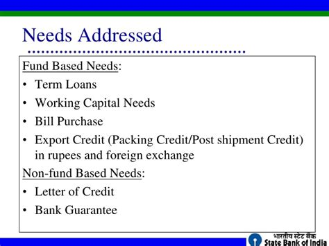 Non Financial Standby Letter Of Credit sbi bank