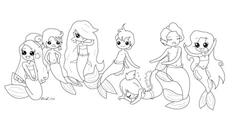 coloring page baby mermaid mermaid coloring page d by willy m wonka on deviantart