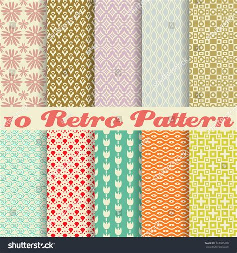 pattern and texture difference 10 retro different vector seamless patterns tiling