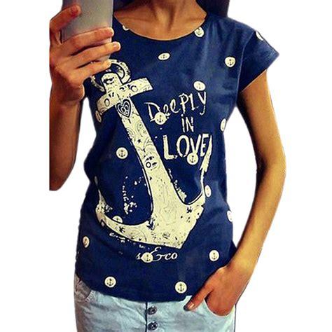 T Shirt Anchor Fighters 2017 summer tops tees t shirt boat anchor t shirt cotton tshirt