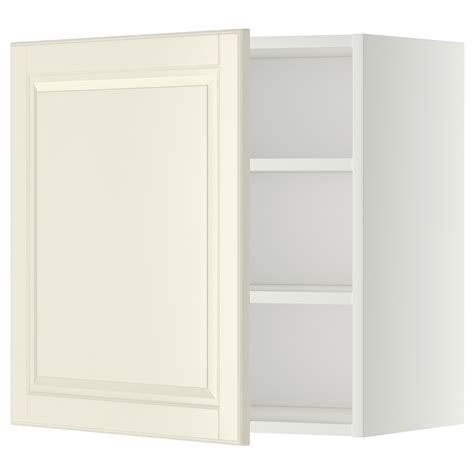 ikea off white kitchen cabinets metod wall cabinet with shelves white bodbyn off white