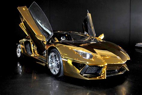 cars lamborghini gold a solid gold lamborghini and 6 other supercars new york post