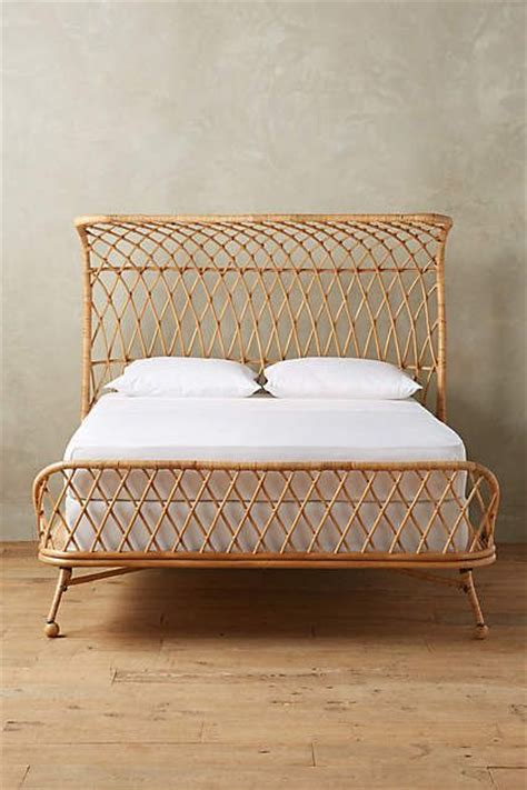 wicker bed curved rattan bed guest rooms anthropologie and rattan