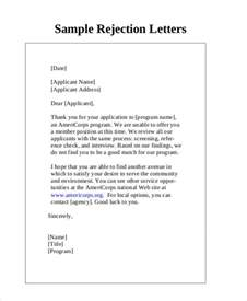 Rejection Letter Sponsorship Sle 7 Rejection Letter Templates 7 Free Sle Exle Format Free Premium Templates