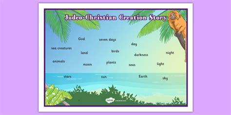 storybday card templates judeo christian creation story word mat