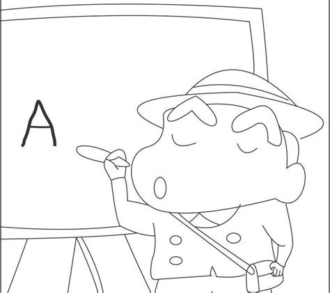 and colouring shin chan coloring pages coloring home