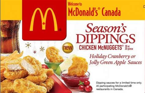 Where To Buy Mcdonalds Gift Cards - mcdonalds canada gift card bonus when you buy a 10 or 20 card new festive mcnugget