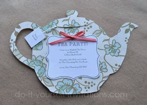 free teapot shaped card template diy tea invitations and crafty tea pots