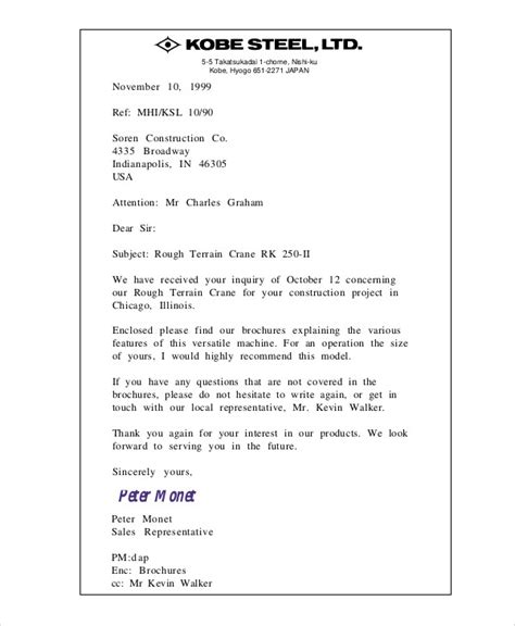 business letter format japan sle company business letter 9 exles in word pdf