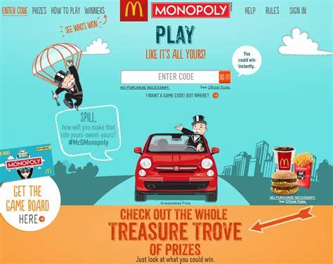 Mcdonalds Monopoly Sweepstakes - mcdonalds monopoly sweepstakes of 2013 mumblebee inc