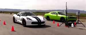 Dodge Corvette Dodge Challenger Hellcat Vs Chevrolet Corvette Z06 In A