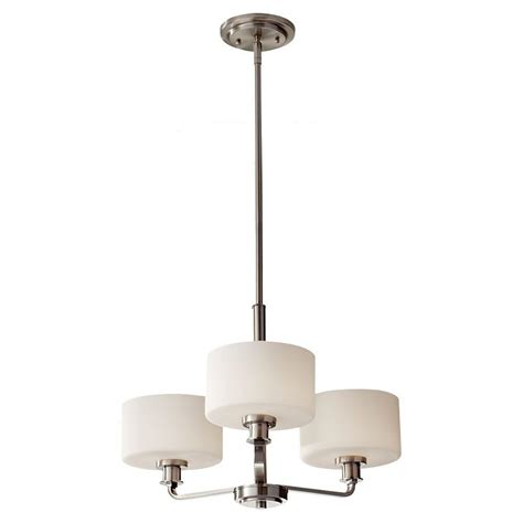 brushed nickel kitchen lighting feiss kincaid 3 light brushed nickel kitchen chandelier