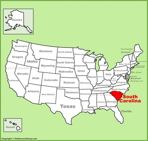 carolina south carolina map south carolina location on the u s map