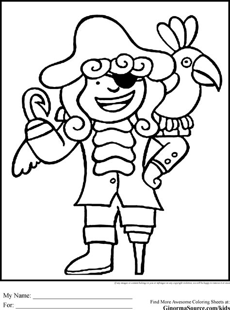 pirate coloring pages free large images