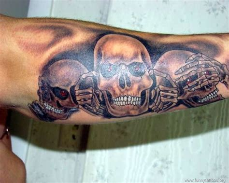 three skull tattoo designs 3 skull arm skull designs for